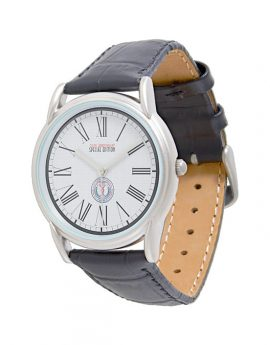 WAMS Men's Classic Black Leather Strap Watch 1