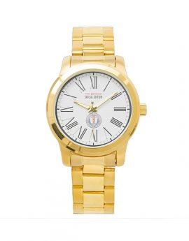 WAMS Unisex Oversized Gold Bracelet Watch 2