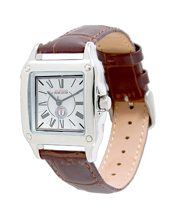 Wams Women S Perfect Square Brown Leather Watch